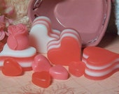 Valentine soap set scented in Victorian Rose