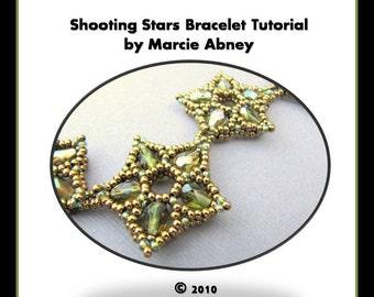 Beadweaving Tutorial - Shooting Stars Beadwoven Bracelet
