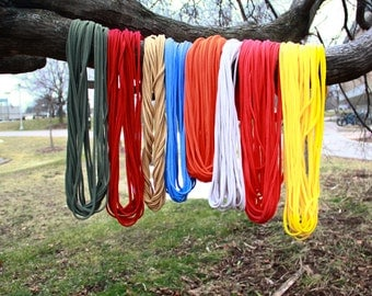 """Infinity Scarf  - YOUR COLOR CHOICE - Approx. 28"""" - 14 strands, Back To School"""