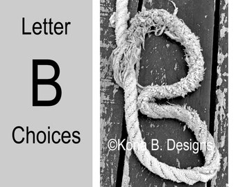 Letter B  -  Alphabet Photography  -  4x6 Photo Letter -  Unframed - Black and White or Sepia