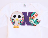 Owl birthday shirt, one, 1, 1st, 2nd, 2,  t shirt, girl pink,