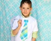 Back to School Boy's Tie T-shirt.  Summer Wedding Ring Bearer Tie NON Personalized. Boy's Tie Tee T-shirt Children Clothing Plaid Birthday
