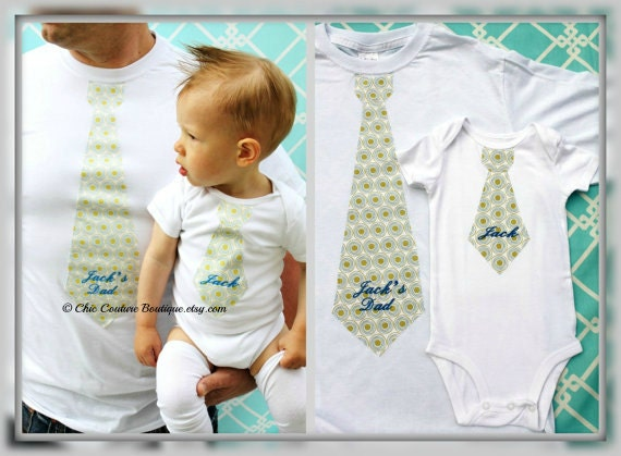 Christmas Holiday Baby Boy Personalized Gift Set of 3 for Daddy and Baby. Tie Bodysuit, Tie T-shirt, & Leg Warmers. 1st Birthday,  Daddy Me