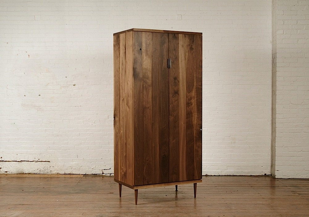 mid century modern armoire. Black Bedroom Furniture Sets. Home Design Ideas