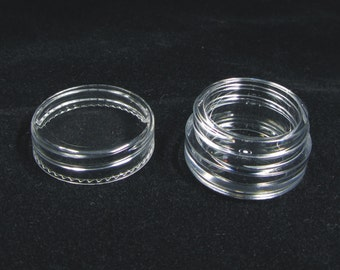 25 Cosmetic Small Sample Jars Lip Balm Pot Containers - 3 Gram (Clear Lids) 5038-25   FREE US Shipping