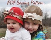 S110CHLD Azalea Baby, Girl, Hat PDF Sewing Pattern, Cloche, Retro, Vintage, Flapper, Hat Digital Sewing Pattern
