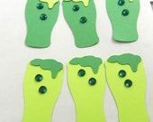 6 Irish Green Beer Die Cuts, St. Patrick's Day, Embellishment, Party Decorations