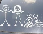 No Kids...Just Money Family Car Sticker