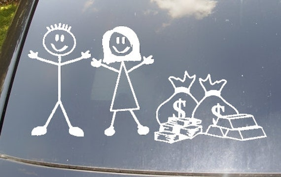 No Kids...Just Money Family Car Sticker