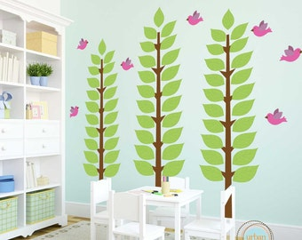 Tree Decal for Nursery or Playroom- Many Faraway Trees- 75X85 Inches, Nursery Artwork, Wall Stickers, Baby Gift