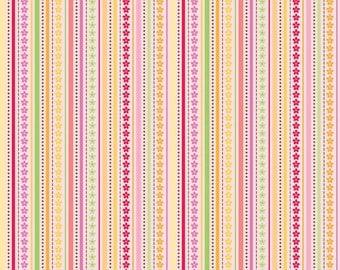 Ladybug Garden - Pink Ladybug Stripe by Doodlebug Designs for Riley Blake Fabrics