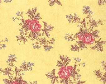 Lario - Blooms & Berries in Buttercup by 3 Sisters for Moda Fabric