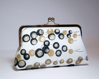 Gold Medallions On The Tree Silk  Wedding Clutch, Wedding bag, Special occasion bag