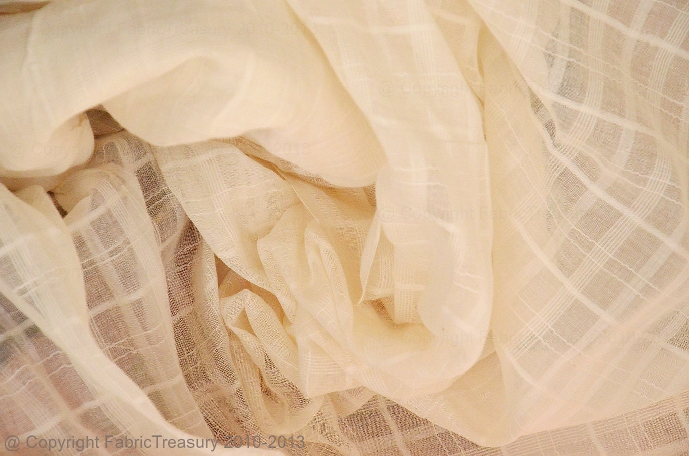 Wholesale Fabric Sheer Cotton Curtain Fabric Unbleached