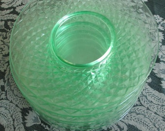 """Depression glass plates- Diamond Quilted by Imperial 8"""" luncheon- set of 6 plates"""