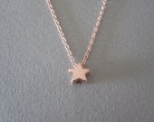Tiny Rose Gold Star Necklace