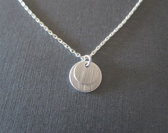 Silver Double Disc Necklace