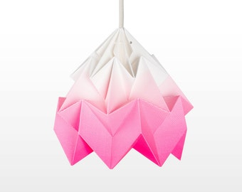 Moth origami lampshade gradient pink