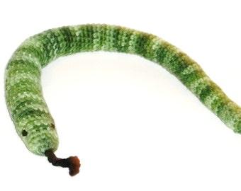 Catnip Cat Toy Snake Green Tones