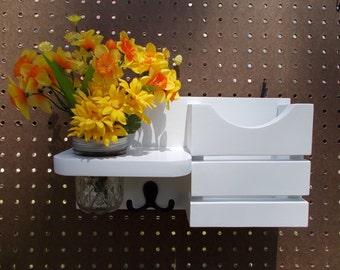 Mason Jar Vase Holder with Mail-Recipe Holder