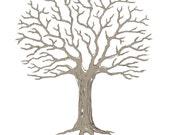 Wedding Tree Guest Book - Printable JPEG - Digital Fingerprint Signature Tree - Custom color, size, text and language