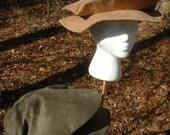 C296     Medieval Renaissance Men's Boys Pancake Hat  Medium  Ready To Ship