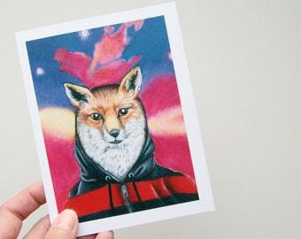 Fox in a Hoodie Note Card Set - Teetoo