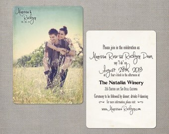 """Wedding Invitation / Wedding Invitations / Wedding Invites / Vintage Invitation / Vintage Wedding Invitation - the """"Marissa"""""""