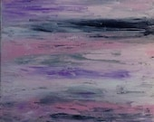 Nursery Art Abstract Girl's Room Pink Purple