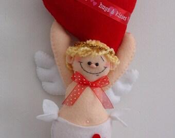 HAPPY HEARTS Hanging Cupid
