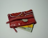 South Industry small Coin Purse, Mola in red leather