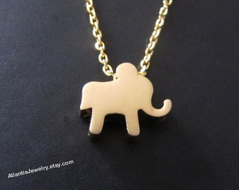 Lucky Elephant Necklace Pendant Necklace Charm Necklace Jewelry Gift