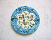 The Unusual - Tropical Spring Flower Ceramic Pendant