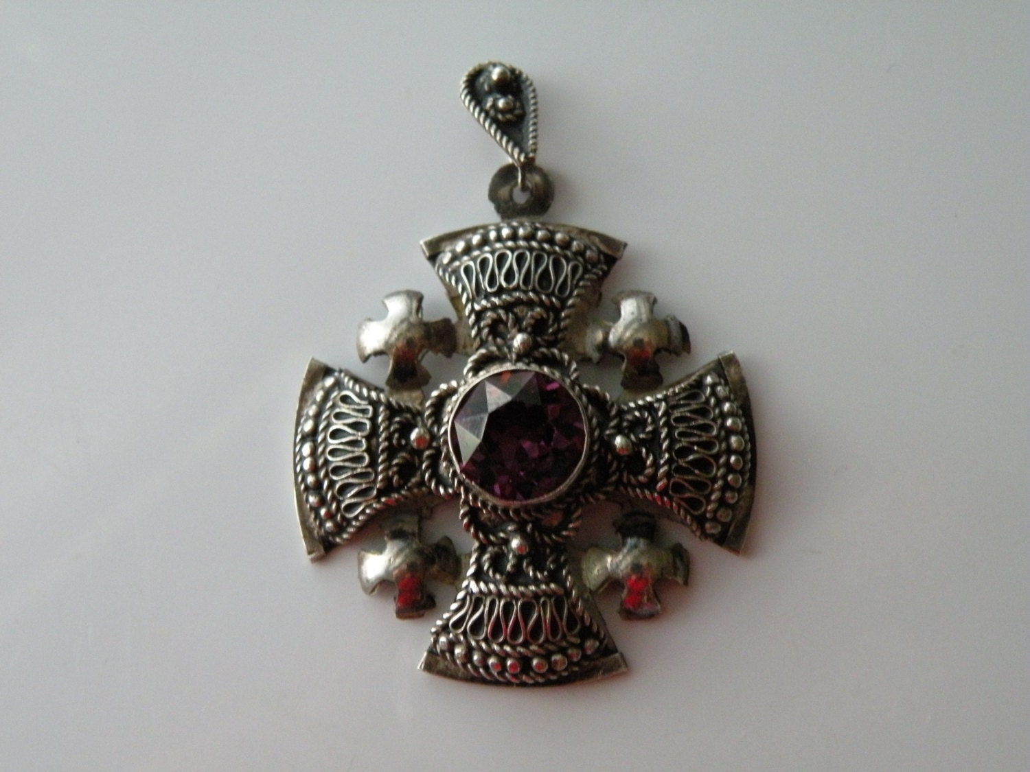 jerusalem cross pendant 935 silver