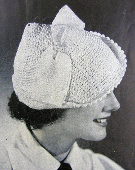 instant pdf pattern 1930s art deco little crocheted hat. Black Bedroom Furniture Sets. Home Design Ideas