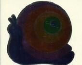 Vintage 80's Hambly Studios Mylar Snail Sticker