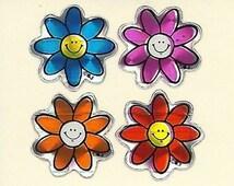 Vintage 80's BJ Prism Mini Flowers Sticker