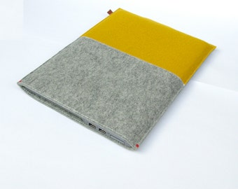 "11"" MACBOOK AIR COVER felt - Yellow & Grey -  sleeve"