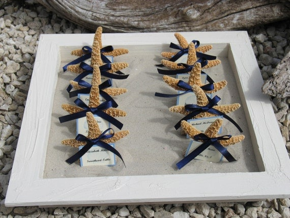 Large Beach Wedding Rustic Crackle and Chippy Painted Sand Boxes for Guest Favors like Sand Dollar or Starfish- Choice of Color