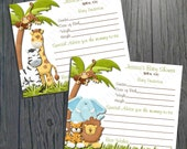 Baby Shower Advice Cards - Jungle Baby Shower -  2 DESIGNS