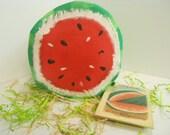 Watermelon Half, Large, Soft Sculpture