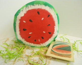 Watermelon Half, Large, Soft Sculpture