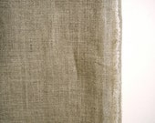 Yardage - 100% linen fabric plain putty oatmeal natural colour by the yard wide width for sewing or upholstery - thecathedral