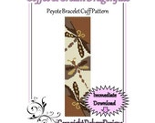 Bead Pattern Peyote(Bracelet Cuff)-Coffee and Cream Dragonflies