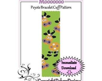 Bead Pattern Peyote(Bracelet Cuff)-Mooooooo