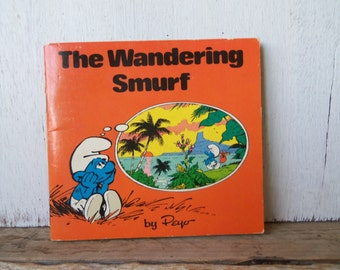 Smurf Book The Wandering Smurf Peyo 1980's