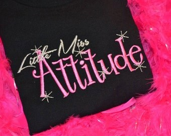 Little Miss Attitude embroidered t shirt