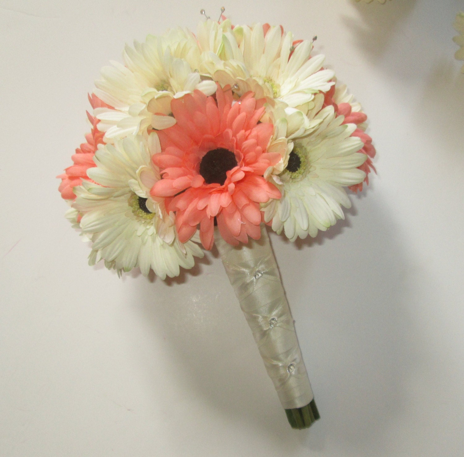 Wedding Bouquet Of Gerbera Daisies : Gerbera daisy wedding bouquet silk