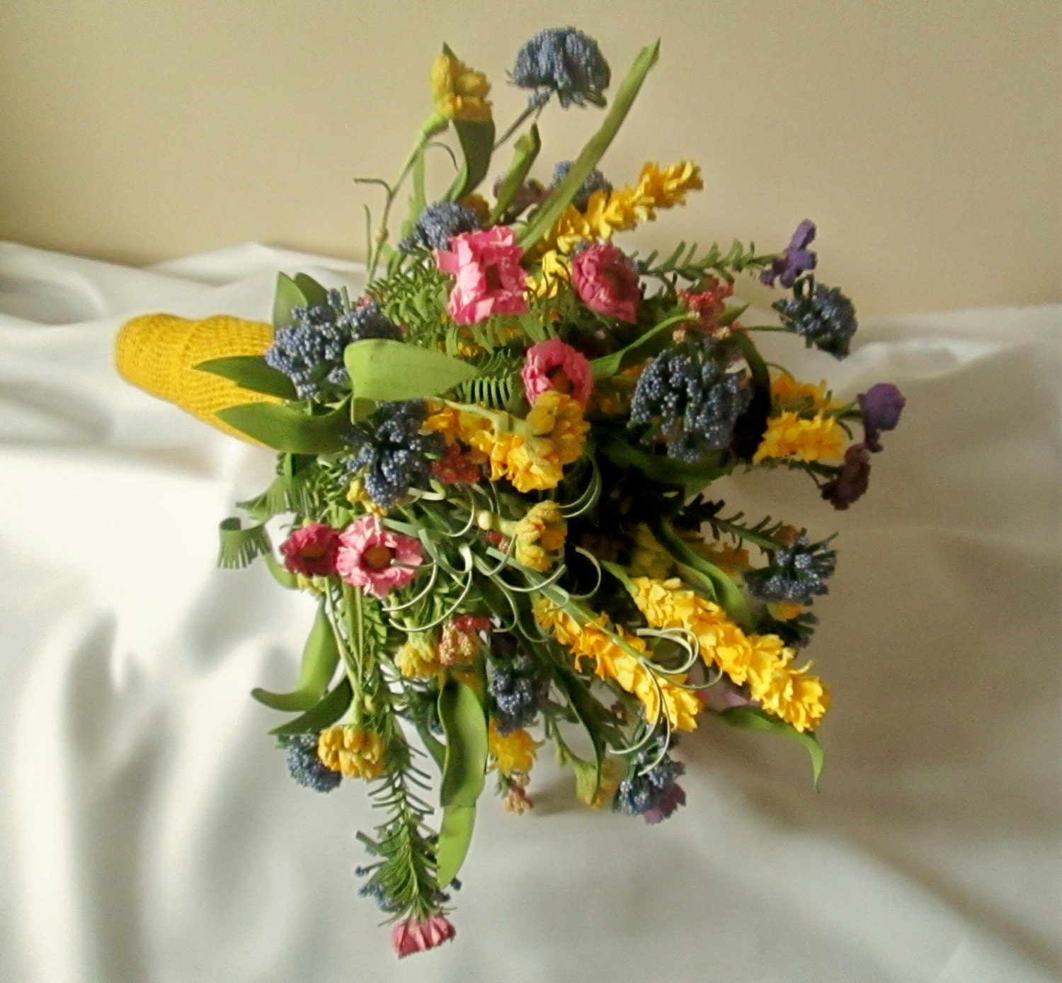 Wild Flower Wedding Bouquet: Wildflower Bridal Bouquet With Boutonniere Wildflower