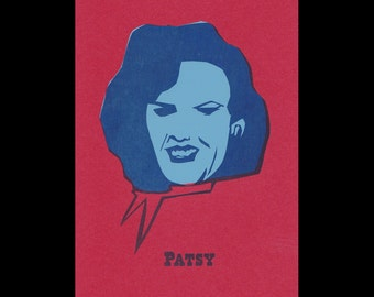 Patsy Cline - Outlaw Country portrait print
